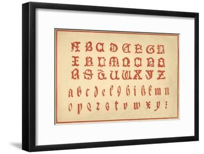 Alphabet, letters A-Z, upper and lower case-Unknown-Framed Giclee Print