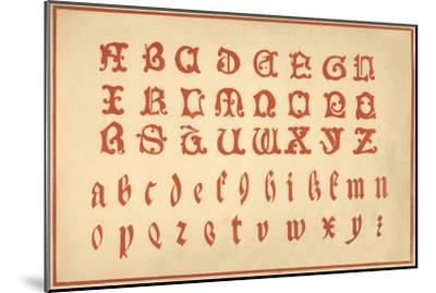 Alphabet, letters A-Z, upper and lower case-Unknown-Mounted Giclee Print