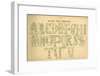 'From MS. Library of Minerva, Rome', 1862-Unknown-Framed Giclee Print