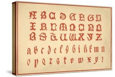Alphabet, letters A-Z, upper and lower case-Unknown-Stretched Canvas Print