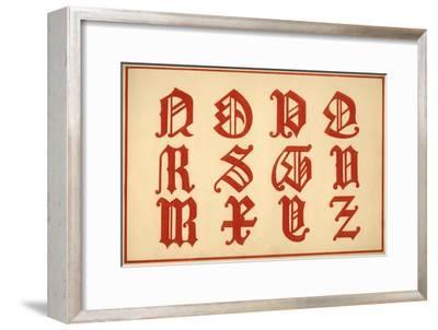 Alphabet, letters N-Z, upper case-Unknown-Framed Giclee Print
