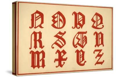 Alphabet, letters N-Z, upper case-Unknown-Stretched Canvas Print