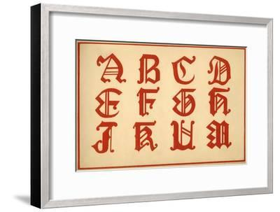 Alphabet, letters A-M, upper case-Unknown-Framed Giclee Print