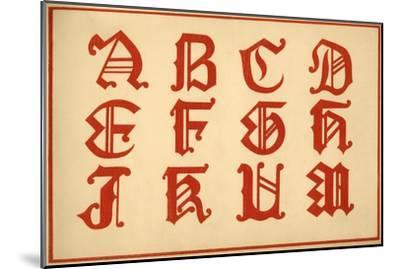 Alphabet, letters A-M, upper case-Unknown-Mounted Giclee Print