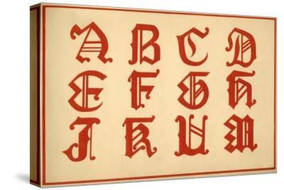 Alphabet, letters A-M, upper case-Unknown-Stretched Canvas Print