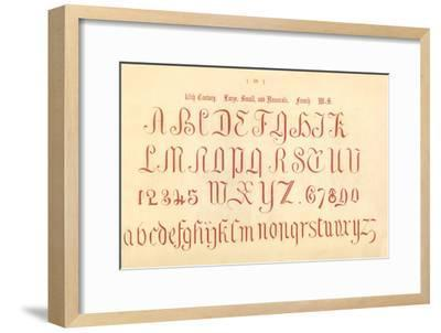 '16th Century. Large, Small and Numerals. French. MS.', 1862-Unknown-Framed Giclee Print