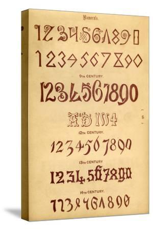 'Numerals', 1862-Unknown-Stretched Canvas Print
