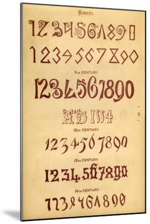 'Numerals', 1862-Unknown-Mounted Giclee Print