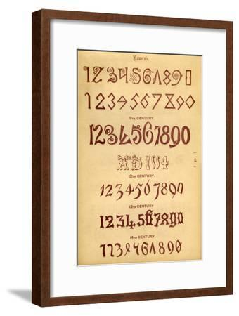 'Numerals', 1862-Unknown-Framed Giclee Print