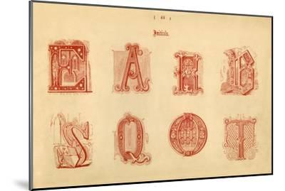 'Initials', 1862-Unknown-Mounted Giclee Print