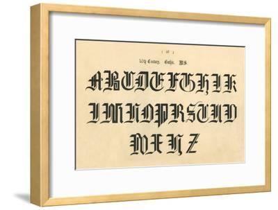 '16th Century. Gothic. MS', 1862-Unknown-Framed Giclee Print