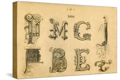 'Initials', 1862-Unknown-Stretched Canvas Print