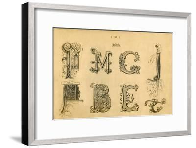 'Initials', 1862-Unknown-Framed Giclee Print