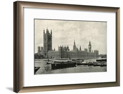 'The Houses of Parliament', (c1897)-E&S Woodbury-Framed Giclee Print