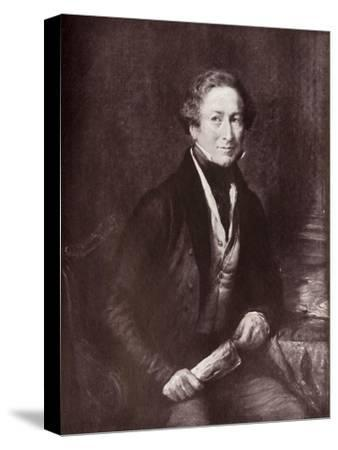 'Sir Robert Peel, Bart.', 1838, (1919)-Unknown-Stretched Canvas Print