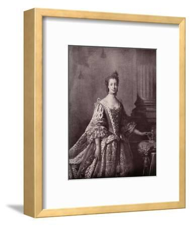 'Charlotte Sophia of Mecklenburg-Strelitz, Queen Consort of George III', 1761-1762, (1919)-Unknown-Framed Giclee Print