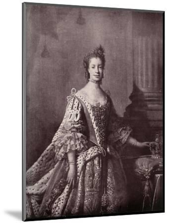 'Charlotte Sophia of Mecklenburg-Strelitz, Queen Consort of George III', 1761-1762, (1919)-Unknown-Mounted Giclee Print