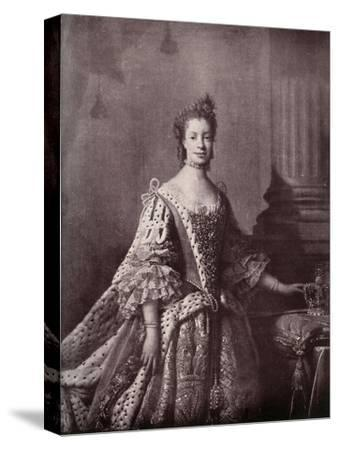 'Charlotte Sophia of Mecklenburg-Strelitz, Queen Consort of George III', 1761-1762, (1919)-Unknown-Stretched Canvas Print