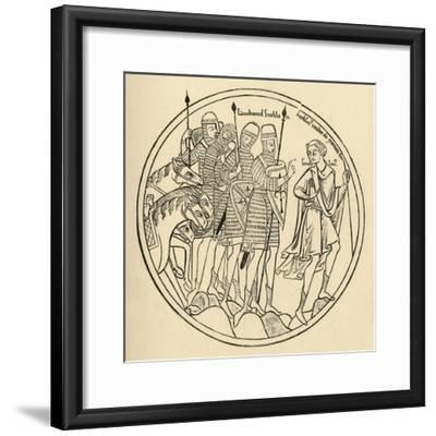'Norman Soldiers', 1908-Unknown-Framed Giclee Print