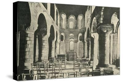 'St. John's Chapel, Tower of London, Norman Architecture', 1908-Unknown-Stretched Canvas Print