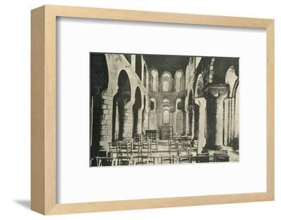 'St. John's Chapel, Tower of London, Norman Architecture', 1908-Unknown-Framed Photographic Print
