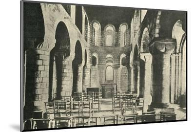 'St. John's Chapel, Tower of London, Norman Architecture', 1908-Unknown-Mounted Photographic Print