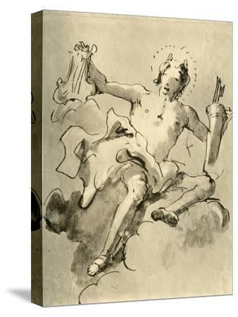 'Apollo', c1757, (1928)-Giovanni Battista Tiepolo-Stretched Canvas Print