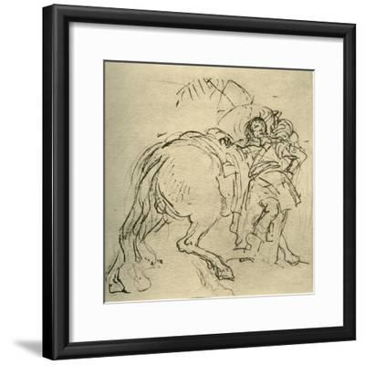 'A rider leaning on his horse', c1740s, (1928)-Giovanni Battista Tiepolo-Framed Giclee Print