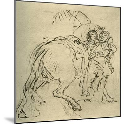 'A rider leaning on his horse', c1740s, (1928)-Giovanni Battista Tiepolo-Mounted Giclee Print