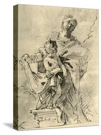 'Madonna and Child', mid 18th century, (1928)-Giovanni Battista Tiepolo-Stretched Canvas Print