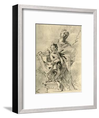 'Madonna and Child', mid 18th century, (1928)-Giovanni Battista Tiepolo-Framed Giclee Print