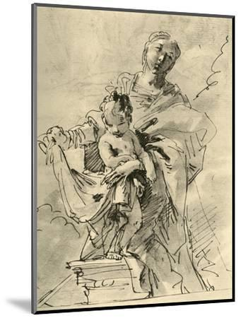 'Madonna and Child', mid 18th century, (1928)-Giovanni Battista Tiepolo-Mounted Giclee Print