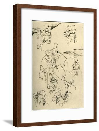 'Figures and heads of Orientals', mid 18th century, (1928)-Giovanni Battista Tiepolo-Framed Giclee Print