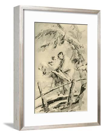 'Flight into Egypt', before 1752, (1928)-Giovanni Battista Tiepolo-Framed Giclee Print