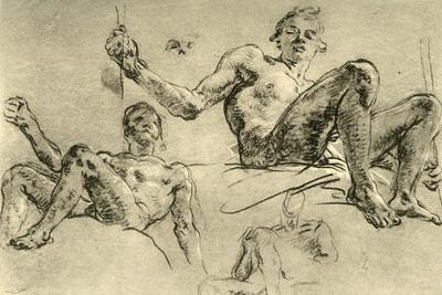 'Nude Studies', mid 18th century, (1928)-Giovanni Battista Tiepolo-Framed Giclee Print