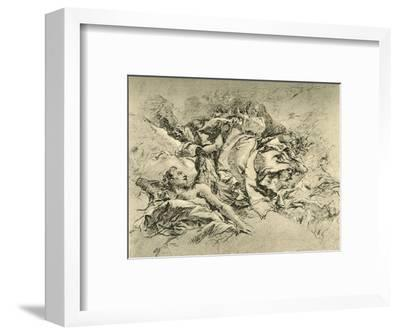 'Madonna in clouds surrounded by Angels', c1754, (1928)-Giovanni Battista Tiepolo-Framed Giclee Print