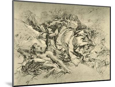 'Madonna in clouds surrounded by Angels', c1754, (1928)-Giovanni Battista Tiepolo-Mounted Giclee Print