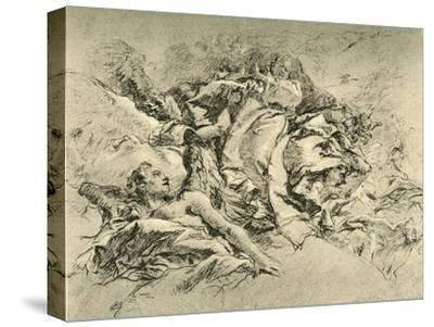 'Madonna in clouds surrounded by Angels', c1754, (1928)-Giovanni Battista Tiepolo-Stretched Canvas Print
