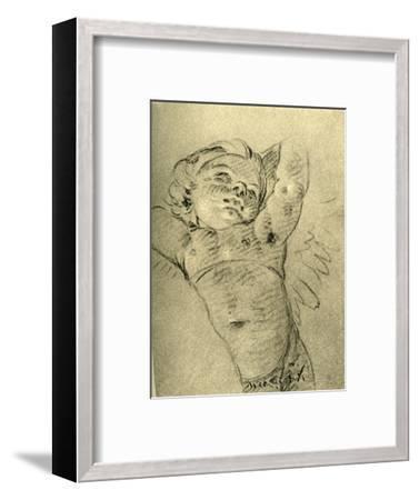 'Hovering Cupid', mid 18th century, (1928)-Giovanni Battista Tiepolo-Framed Giclee Print