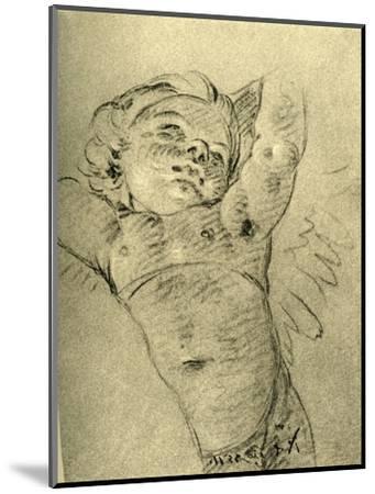 'Hovering Cupid', mid 18th century, (1928)-Giovanni Battista Tiepolo-Mounted Giclee Print