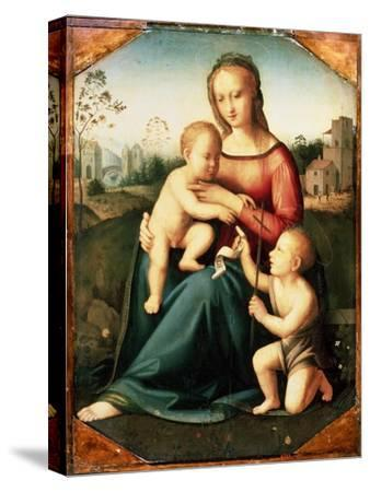 'Virgin and child with John the Baptist as a Boy', 16th century-Unknown-Stretched Canvas Print