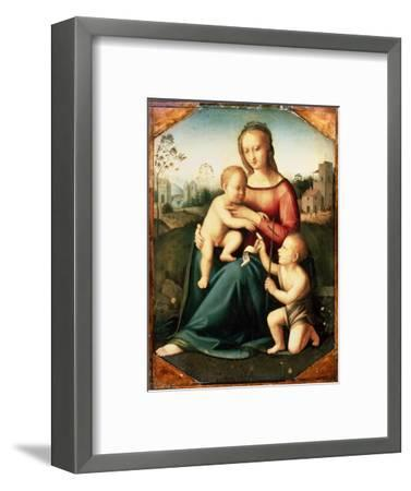 'Virgin and child with John the Baptist as a Boy', 16th century-Unknown-Framed Giclee Print