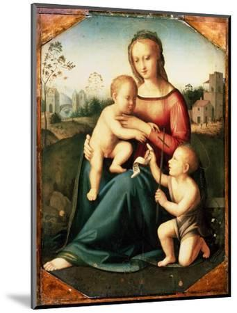 'Virgin and child with John the Baptist as a Boy', 16th century-Unknown-Mounted Giclee Print
