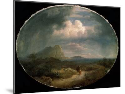 'Italian Landscape', early 19th century-Unknown-Mounted Giclee Print