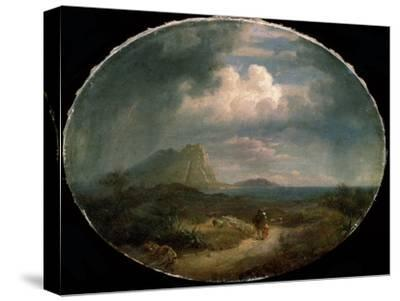 'Italian Landscape', early 19th century-Unknown-Stretched Canvas Print