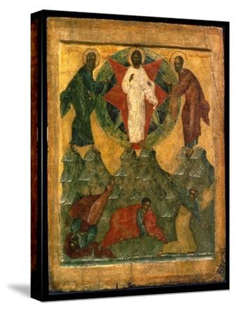 'The Transfiguration of Jesus', Russian icon, early 16th century-Unknown-Stretched Canvas Print