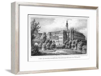 The Weimar City Castle. From: Thüringen und der Harz.. by Friedrich von Sydow, 1839--Framed Giclee Print