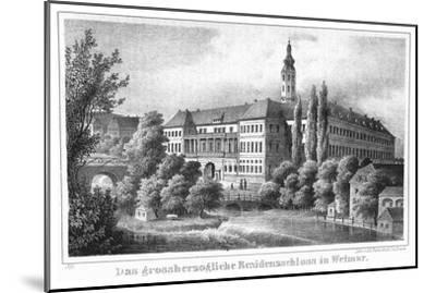 The Weimar City Castle. From: Thüringen und der Harz.. by Friedrich von Sydow, 1839--Mounted Giclee Print
