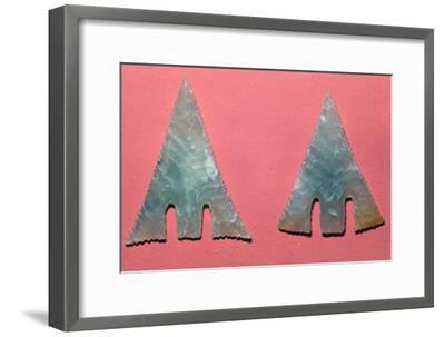 Welsh neolithic arrowheads-Unknown-Framed Giclee Print