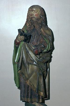 Wooden statuette of St Paul-Unknown-Framed Giclee Print
